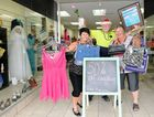 St Vinnies centre manager co-ordinator Lisa Baker and volunteers CJ and Noelene preparing for an influx of bargain hunters.
