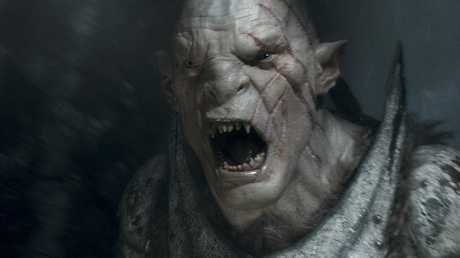 Azog The Defiler, performed by Manu Bennett, in The Hobbit: The Battle of the Five Armies.
