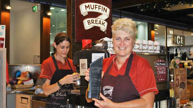 NATIONAL RECOGNITION: Sally Kacsics at the Muffin Break outlet in Coffs Central.
