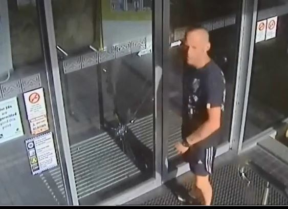 Police are trying to identify this man allegedly involved in the wilful damage of a Noosaville hotel.