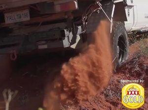 Four-wheel driving in the desert