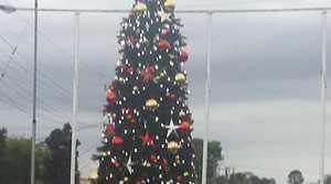 The lighting of Casino's Christmas tree on December 4, 2014.