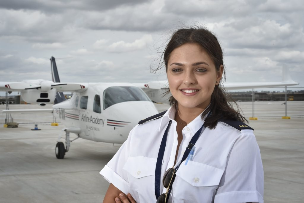 Nilwani Bishop and aviation student from the Airline Academy.