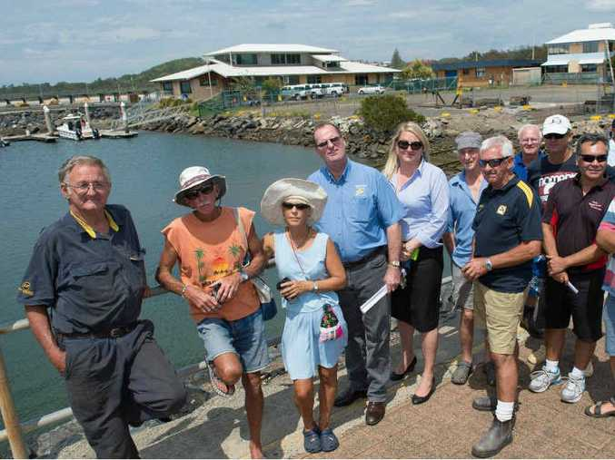 MASTERPLAN: Harbour stakeholders met with State Government minister Kevin Humphries and Coffs Harbour MP Andrew Fraser this week to discuss the future of the slipway and surrounding Crown lands.