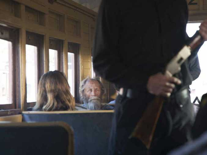 Filming of Bullets for the Dead, shot at Rosewood Railway Museum.