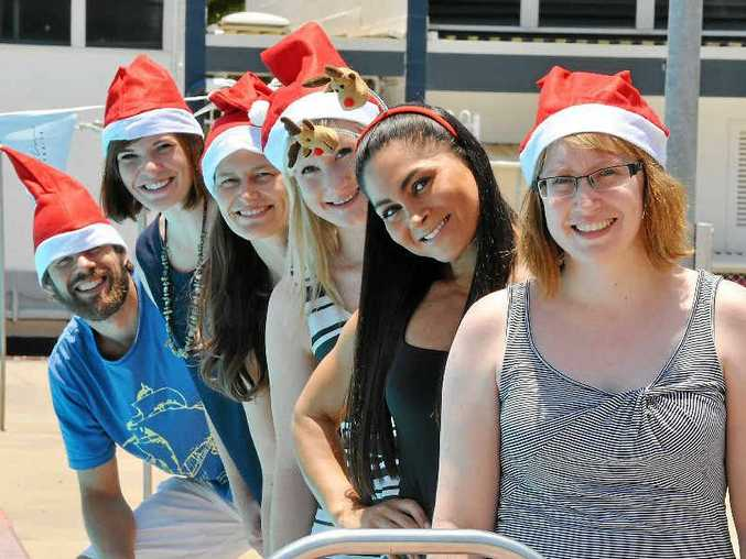 TOP TIPS: (from left) Assoc Prof Corneel Vandelanotte, Dr Amanda Rebar, Stephanie Schoeppe, Stephanie Alley, Dr Betul Sekendiz and Stephanie Hall. In the spirit of the 'Twelve Days of Christmas' song, CQUniversity's physical activity specialists have pitched in to produce their top 12 tips for the coming festive season.