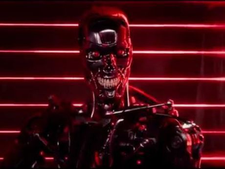 A human-hunting cyborg from the Terminator Genisys trailer