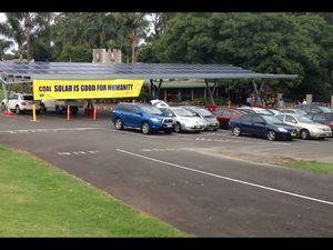 Maca Castle's solar car refuelling station