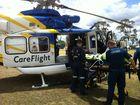 RACQ CareFlight crews transport a man injured during a campdraft event near Miles. Photo Contributed by RACQ CareFlight