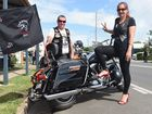 Independent Riders Toy and Food Run - lead rider Mark McKechnie with pillion Ruth Aurisch. Photo: Alistair Brightman / Fraser Coast Chronicle
