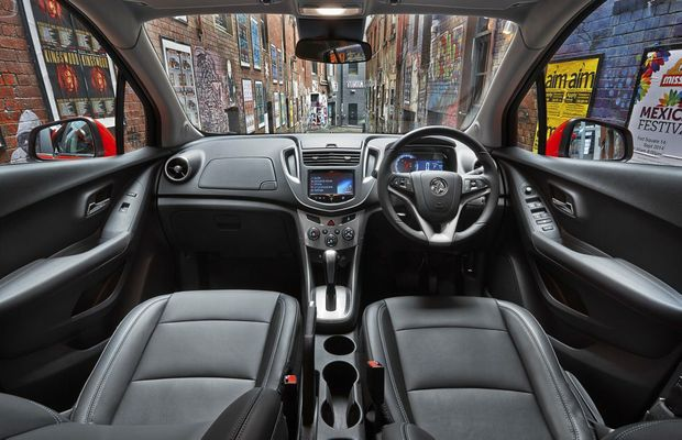 Inside the Holden Trax.