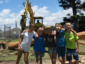 Students thrilled as work begins on playground for school