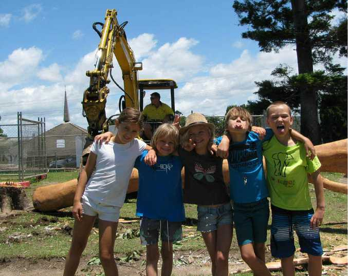 HARD YARDS: The long road to a new playground at Woolgoolga Public School is almost over.