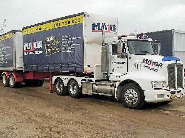 SKILLED OPERATORS: Good road train drivers should know how to change gears before their upgrades.