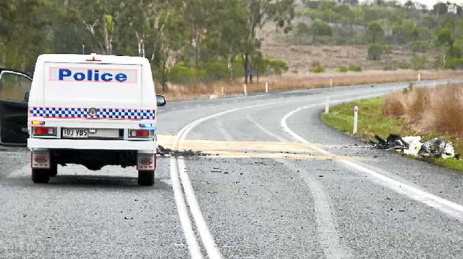 TRAGEDY: The scene of a double fatality near Hut Ck on the Bruce Hwy.