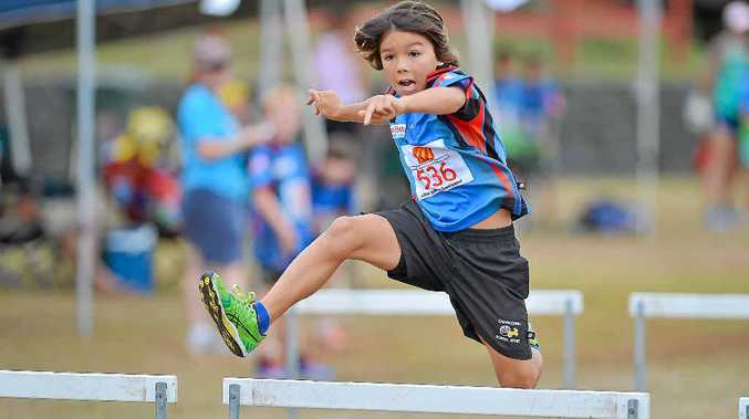 BEST FOOT FORWARD: Tana Martin, 9, finished second and third in his first two events, the ones he didn't even like.