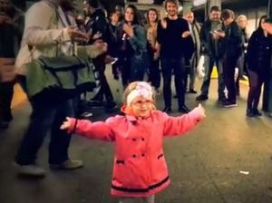 VIDEO: Girl's subway dance will brighten your Monday