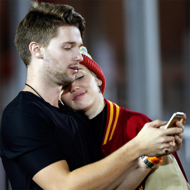 Patrick Schwarzenegger with Miley Cyrus