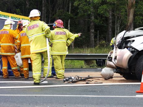 Emergency services on scene at a crash on Tweed Valley Way near Cudgen Rd on Monday December 8. Two women were taken to hospital.