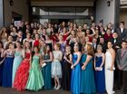 The class of 2014 pose for a group photo before their Toowoomba Christian College formal.