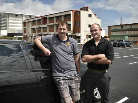 James Hogan and Cameron Boyd use Toowoomba's new Julia St car park.