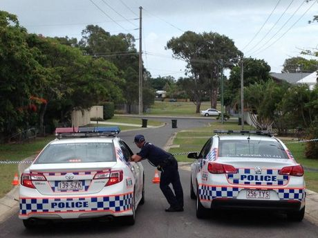 Police on Winchelsea St in Pialba blocking the intersection with Hythe St on Tuesday morning in the aftermath of a shooting on Monday night.
