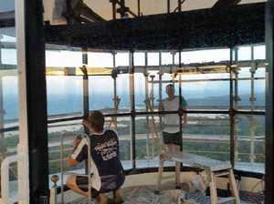 Gympie glazier fits Fraser Island lighthouse with new windows