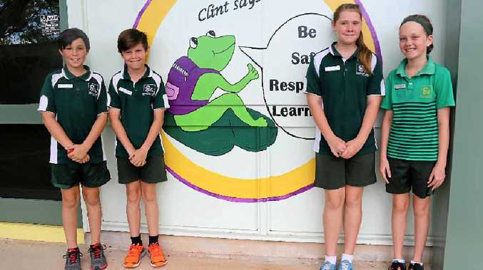 CAN'T WAIT: Clinton State School Year 6 students Matthew Harris, Connor Stewart, Shaylah Combridge and Avril O'Flanagan.