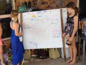 Kids open lawn cafe