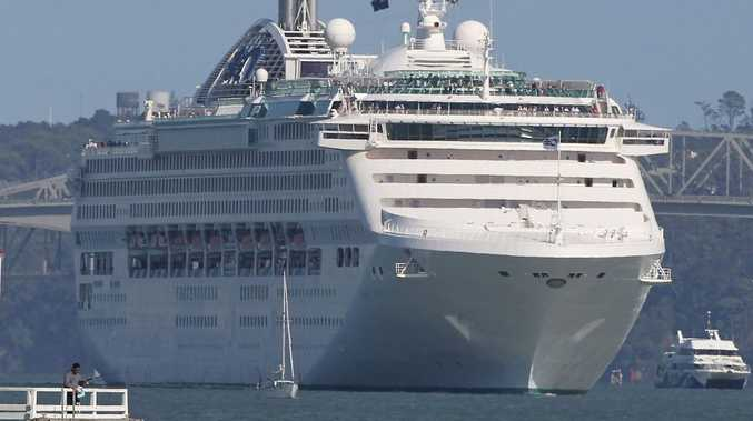 The luxury cruise ship Dawn Princess
