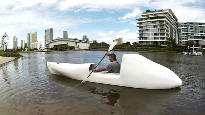 Stuart Cleary on the Gold Coast in the lead up to his Tasman Odyssey.
