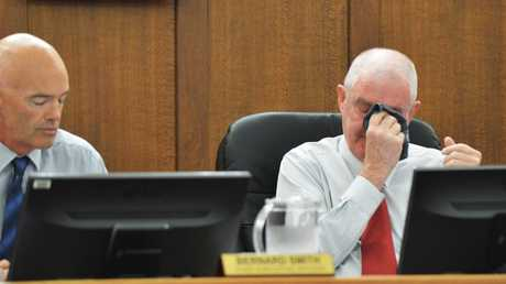 Gympie Regional Council Mayor, Ron Dyne, announces his resignation due to ailing health. Mayor Ron Dyne finishes his resignation speech. Photo: Greg Miller / Gympie Times