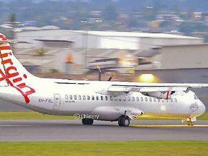 Virgin flight landed with a single engine