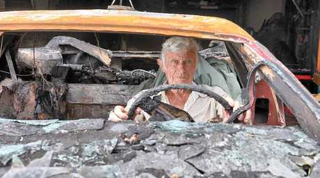 LOOKING ON THE BRIGHT SIDE: Vincent Boyle has lost his 100th customised car to a fire, ending a 10-year project.