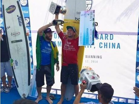 Harley Ingleby is crowned the best in the world at the World Longboard Championships at Hainan Island in China.
