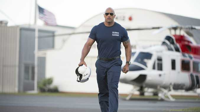 Dwayne Johnson in a scene from San Andreas.