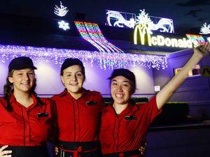 Festive lights on the menu at McDonald's