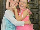 LITTLE PRINCESSES: Olivia and Kyla share a love of the movie Frozen and won't let it go.