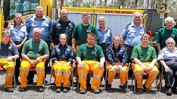 ON CALL: The Woodlea Rural Fire Brigade volunteers.