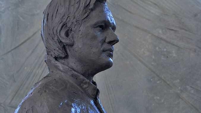 Davide Dormino's statue of Julian Assange