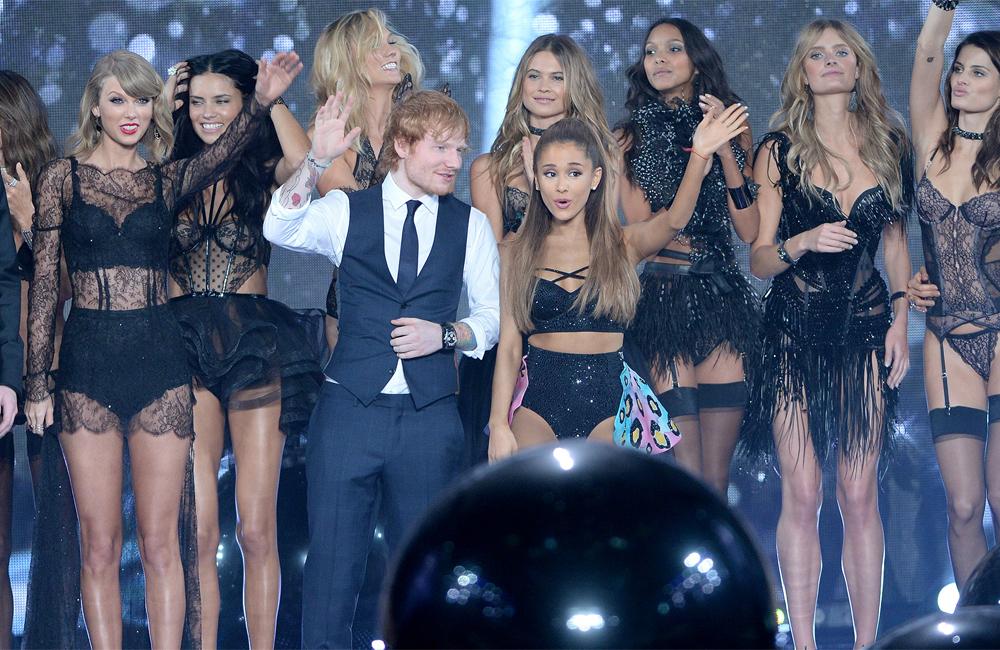 Ed Sheeran, Ariana Grande and the big black balls at the Victoria's Secret fashion show