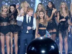 Ed Sheeran's laughter at Ariana's 'big balls' quip