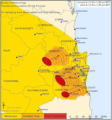 A weather warning has been issued for parts of NSW and Queensland, including the Northern Rivers.