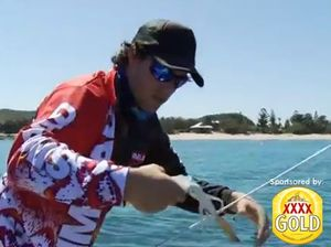 Catching squid from a tinny