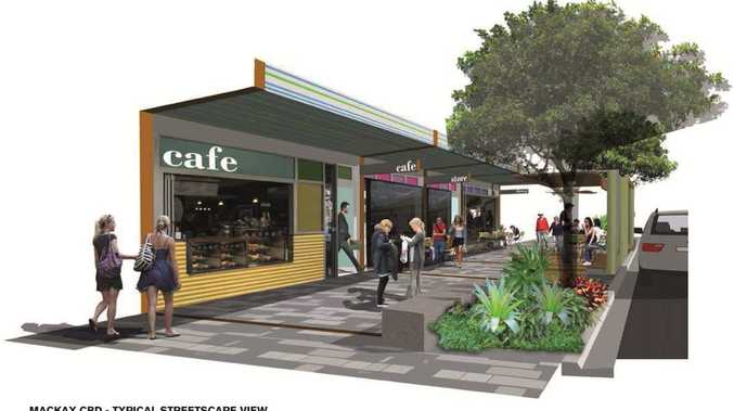 An Artist's impression of what the Mackay CBD upgrade will look like.