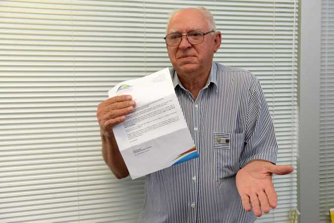 NO DOGS: Dennis Kington who does not own a dog received a notice from the council about unregistered dog/dogs on his property. Photo: Mike Knott / NewsMail
