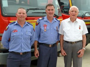 Three generations of firefighters at awards ceremony