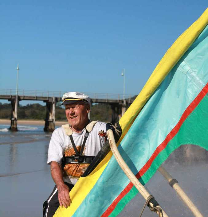 GREAT EXAMPLE: Arnie Jackson's love of windsurfing shows age doesn't have to slow you down.
