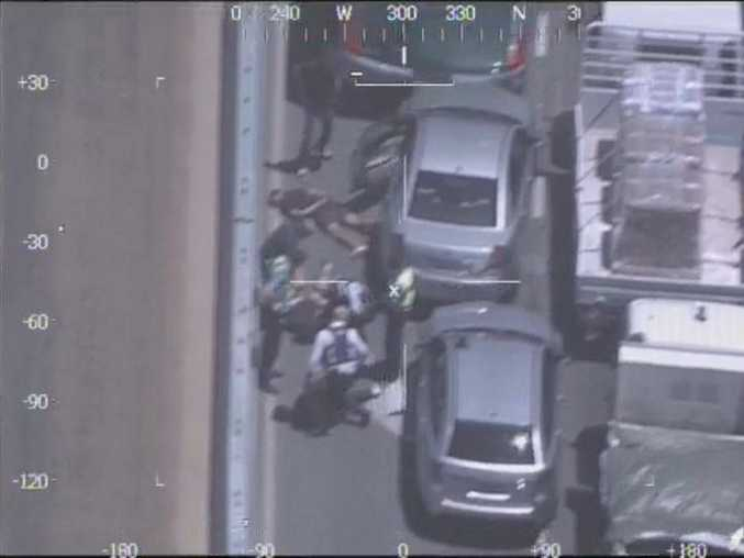Video was taken by West Australian police from the Air Wing helicopter as they tracked a dangerous driver who failed to stop for police.