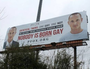 'Nobody is born gay': Billboard outrages US